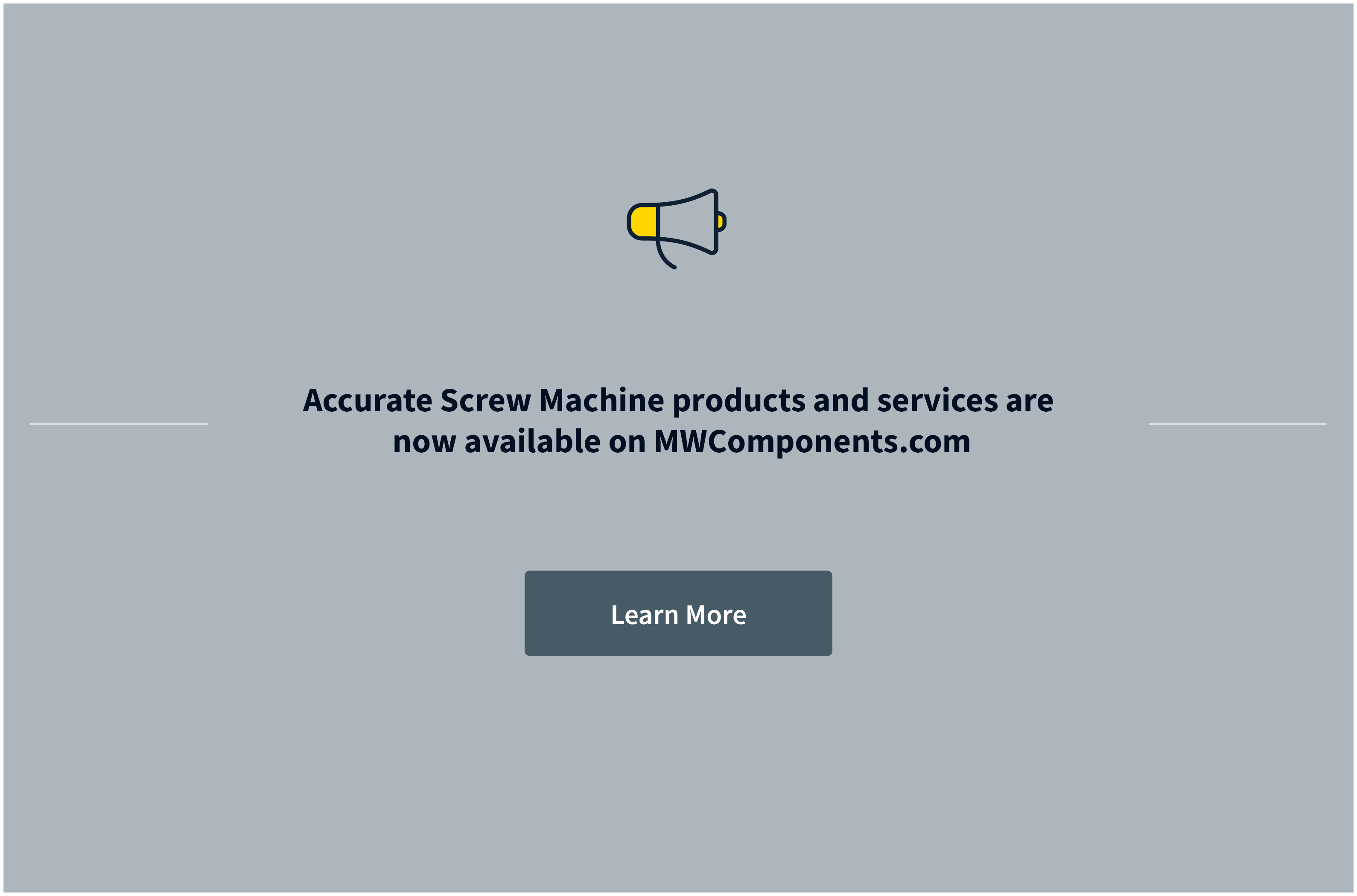 Accurate Screw Machine is now part of MW Components