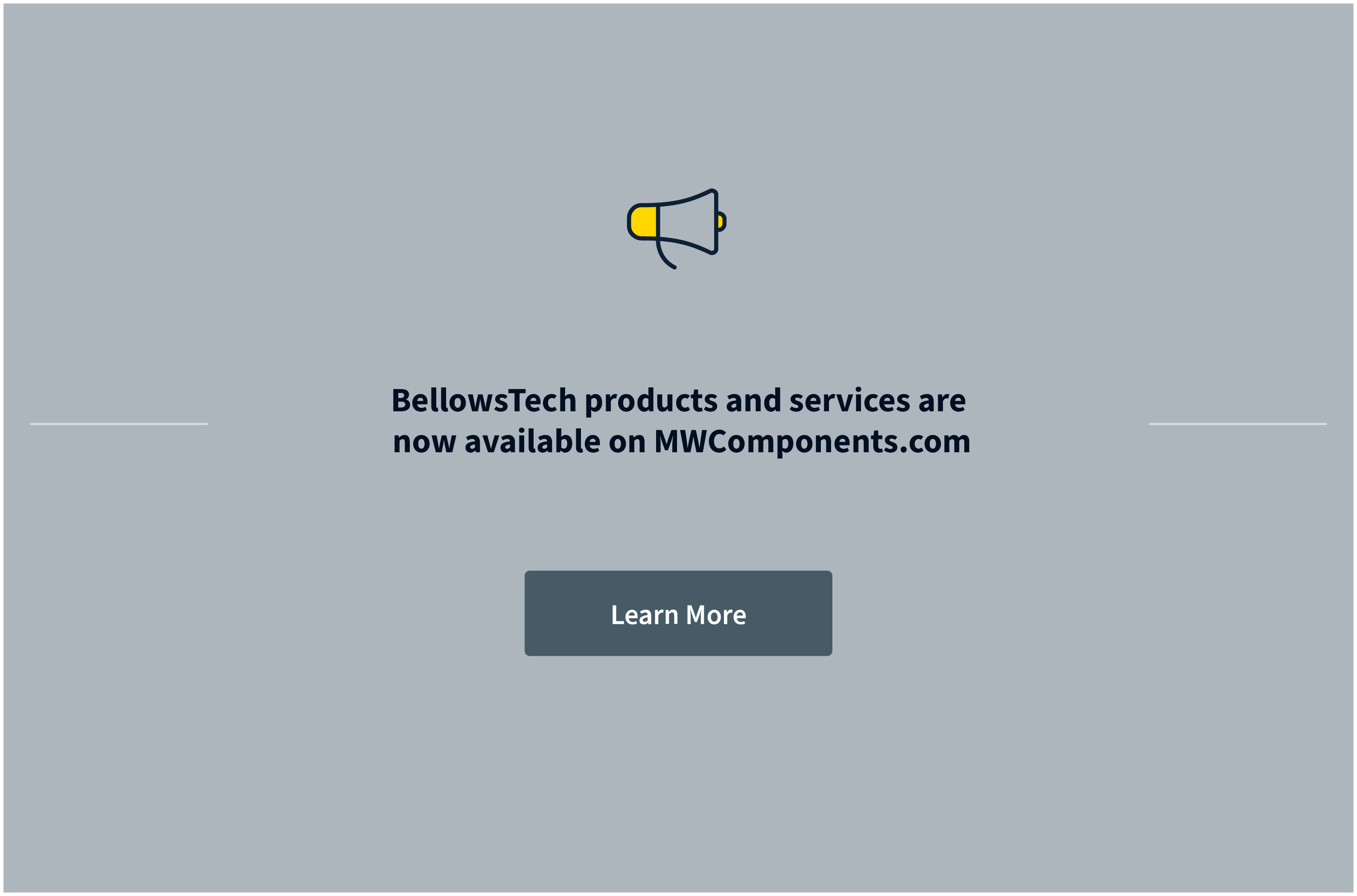 BellowsTech is now a part of MW Components