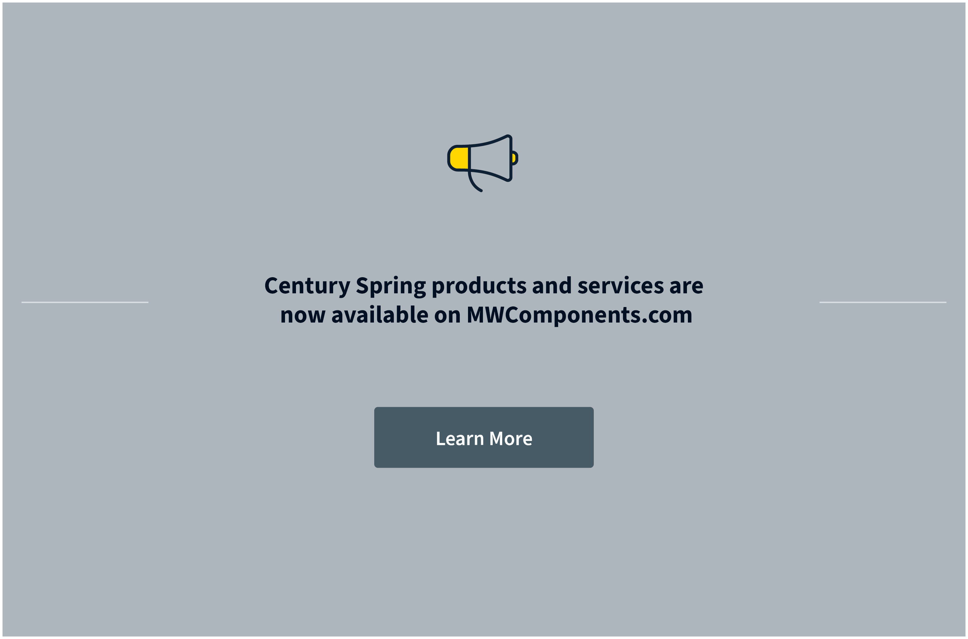Century Spring is now part of MW Components