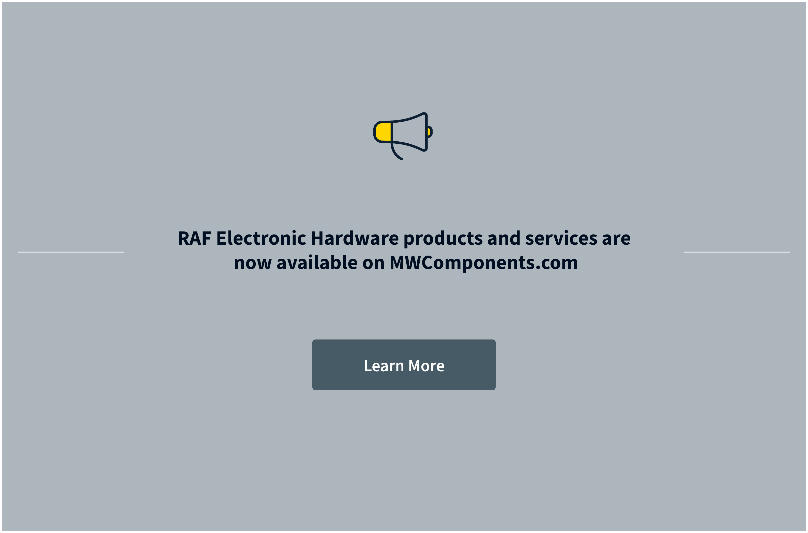 RAF Electronic Hardware is now part of MW Components
