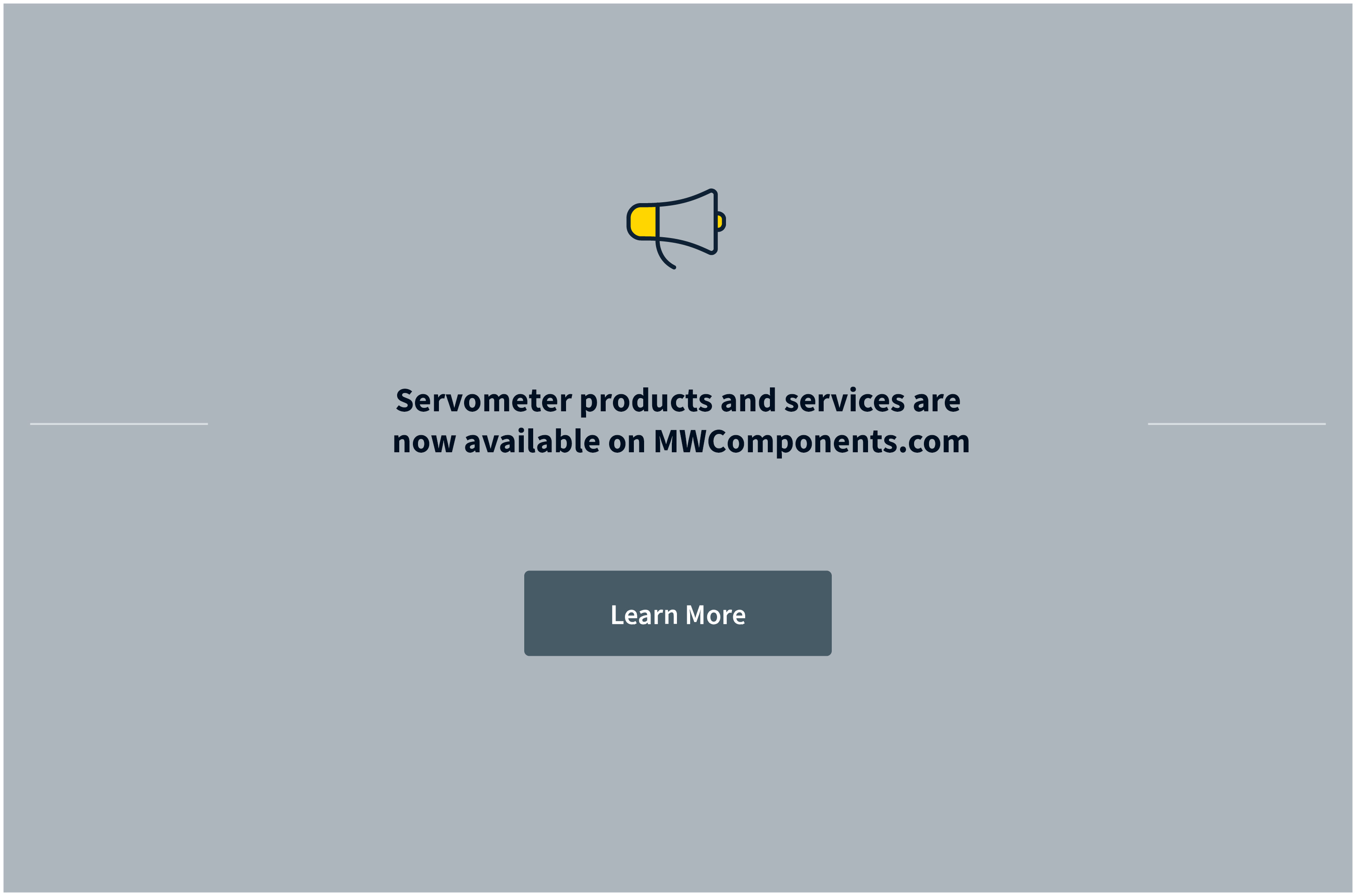 Servometer is now part of MW Components